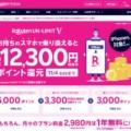 楽天モバイル「Rakuten UN-LIMIT V」SIM単体契約で最大12,300円分ポイント還元&1年間無料
